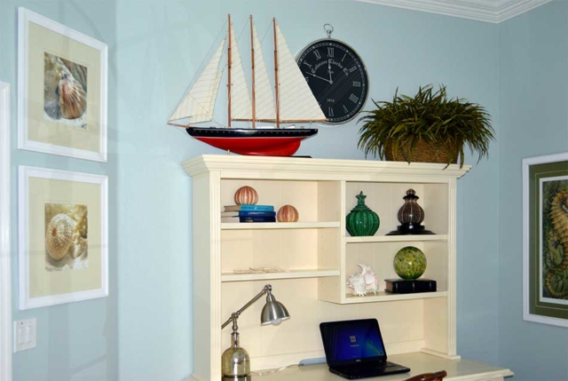 Sailboat and Clock Decor
