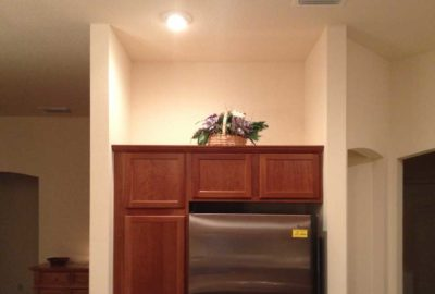 Before, Niche and above the Refrigerator.