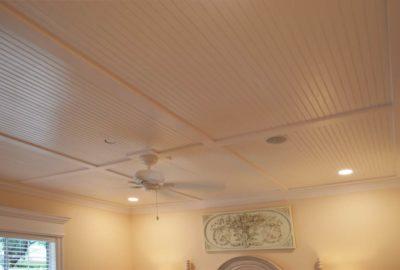 Bead-Board Ceiling in Master-Bedroom