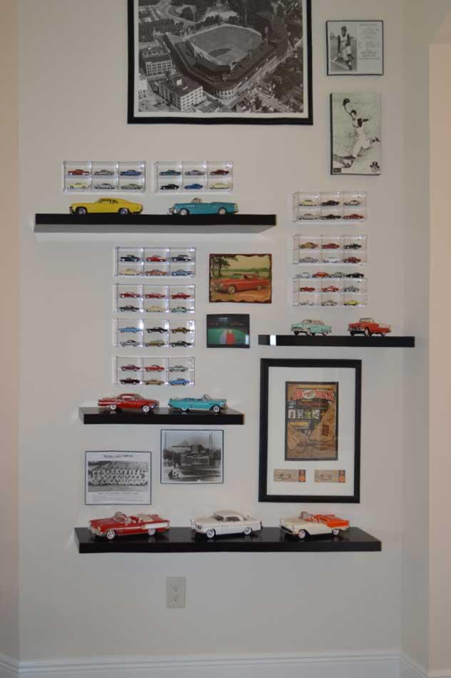 Car and Baseball Display in Iris Dining-Room.