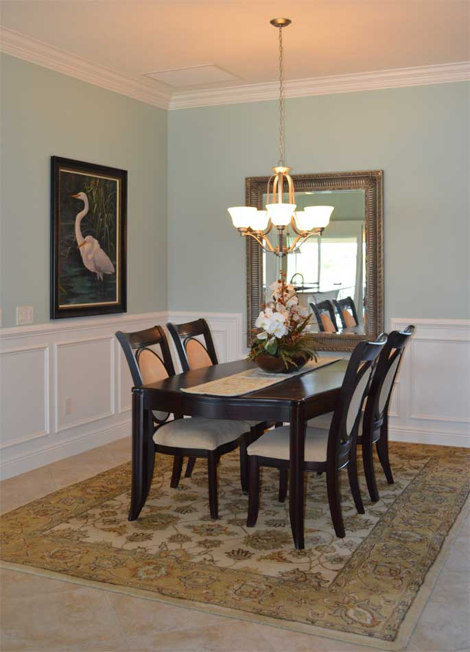 Dining-Room after the wainscot was added.