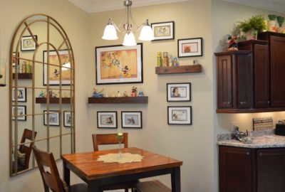 Disney kitchen nook.