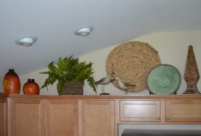 The Iris above the Cabinets
