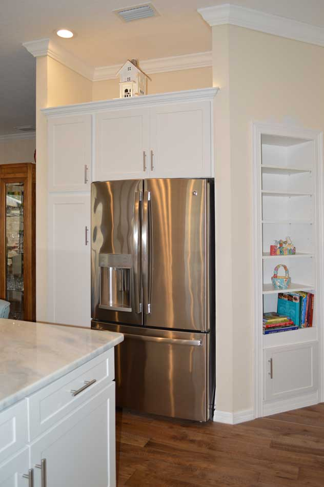 After, Refrigerator and Niche area.