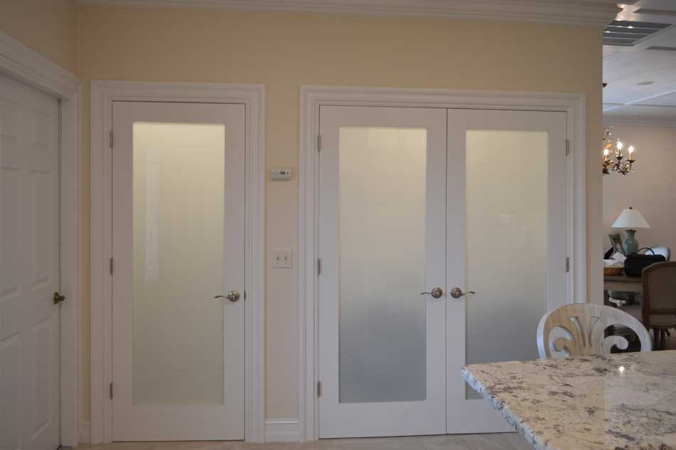 After, Opaque Door with Lights Glowing.