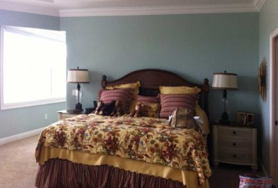 Before of Bedspread and Furniture.