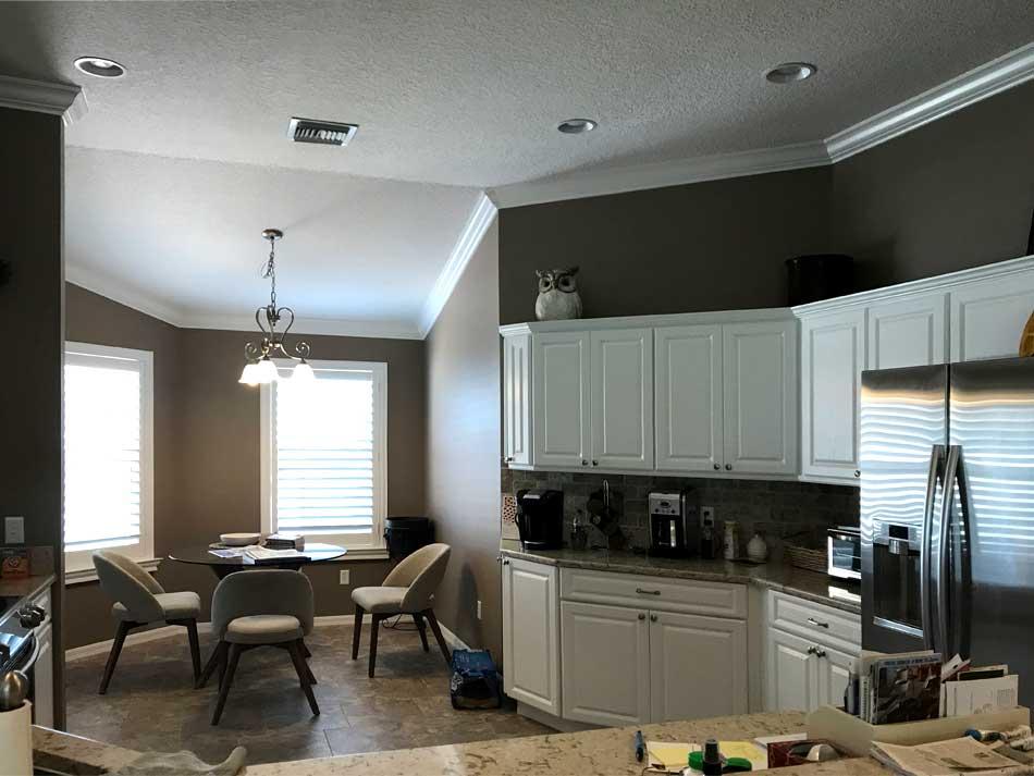 Kitchen was dark even though the Cabinets were white.