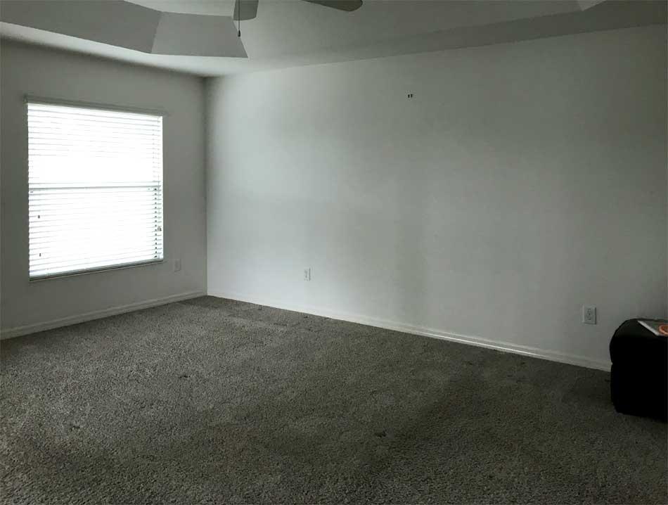Before, Master Bedroom of Bonifay Model.