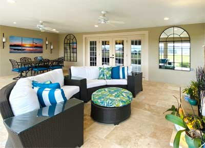 Lanai Living-Room and Dining-Room.