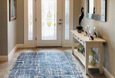 Foyer showing large rug.