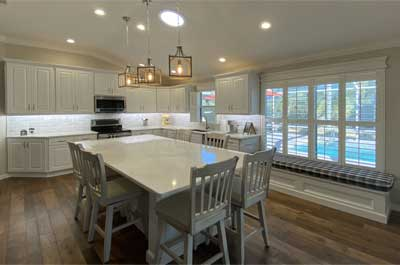 After of Stoney Brook model Kitchen - Home Décor by Ruth Dyer - in the Villages of Florida.