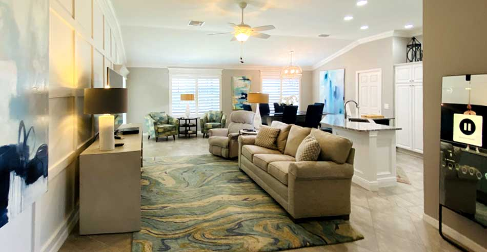 After showing the rest of the space from the front of the house - Interior Design - Home Décor by Ruth Dyer.