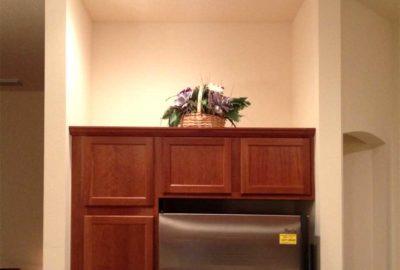 After, Niche above the Kitchen Refrigerator.