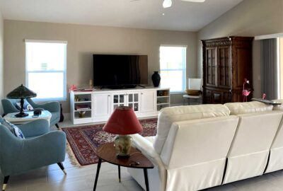 Before of the Begonia living room - Home Décor by Ruth Dyer - in the Villages of Florida.