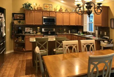 Before of the Stoney brook model Kitchen - Home Décor by Ruth Dyer - in the Villages of Florida.