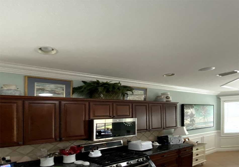 Before Image of Bridgeport Model with dark Cabinetry - Interior Design - in the Villages of Florida.