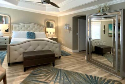 Showing the mirror that is a jewelry box as well - Home Décor by Ruth Dyer - in the Villages of Florida.