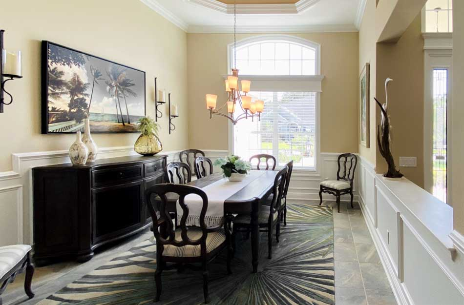 After Image of St. Charles Dining Room - Interior Design - in the Villages of Florida.