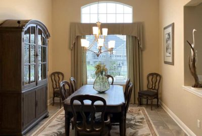 Before Image of St. Charles Dining Room - Interior Design - in the Villages of Florida.
