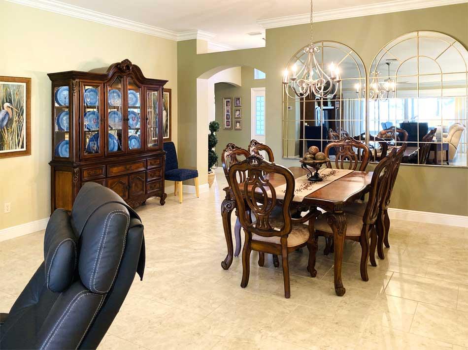 After Image of Dining room - Lantana Model, Interior Design - Villages of Florida.