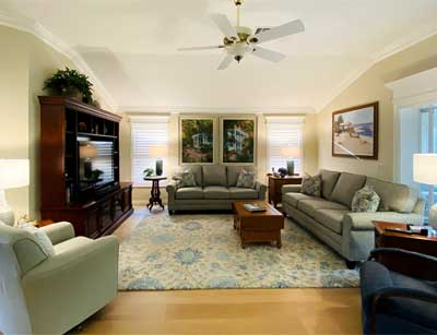 After Image of Living room Gardenia model - in the Villages of Florida.