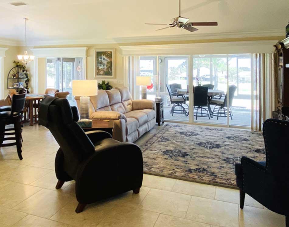 After Image of Lantana model Living room - Interior Design - Villages of Florida.