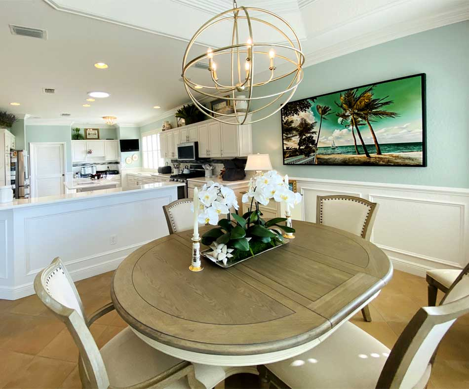 After Image of Bridgeport Model is Awesome and Bright! - Interior Design - in the Villages of Florida.