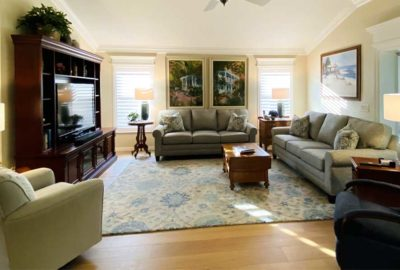After Image of Gardenia model Living room - in the Villages of Florida.