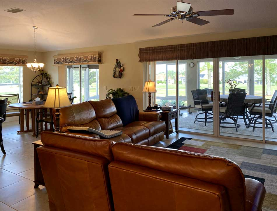 Before Image of Lantana Model - Living room, in the heart of the Villages of Florida.