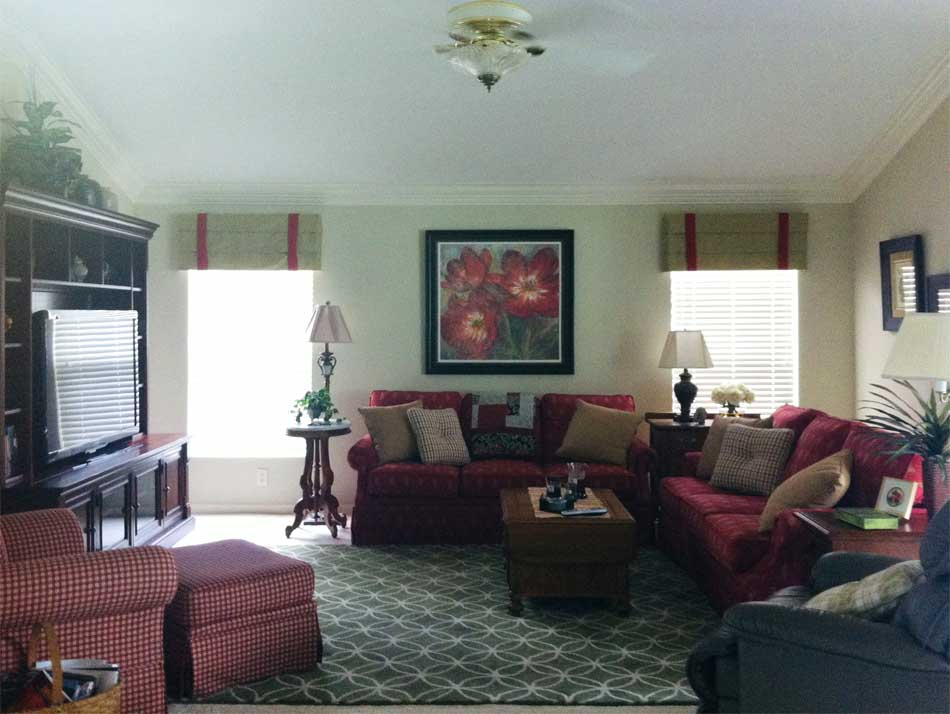Before Image of Gardenia model Living Room - in the Villages of Florida.