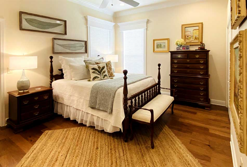 After Image of St. Charles Guest Bedroom looks Light and Inviting!
