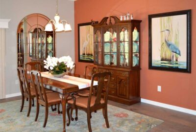 After Image of Begonia Dining Room - Interior Design - Home Décor by Ruth Dyer.