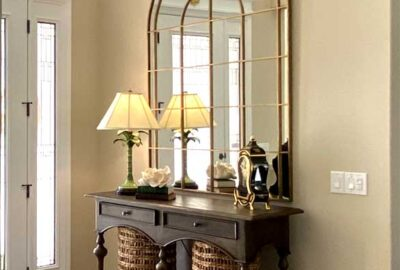St. Charles model foyer - Interior Design - by Ruth Dyer