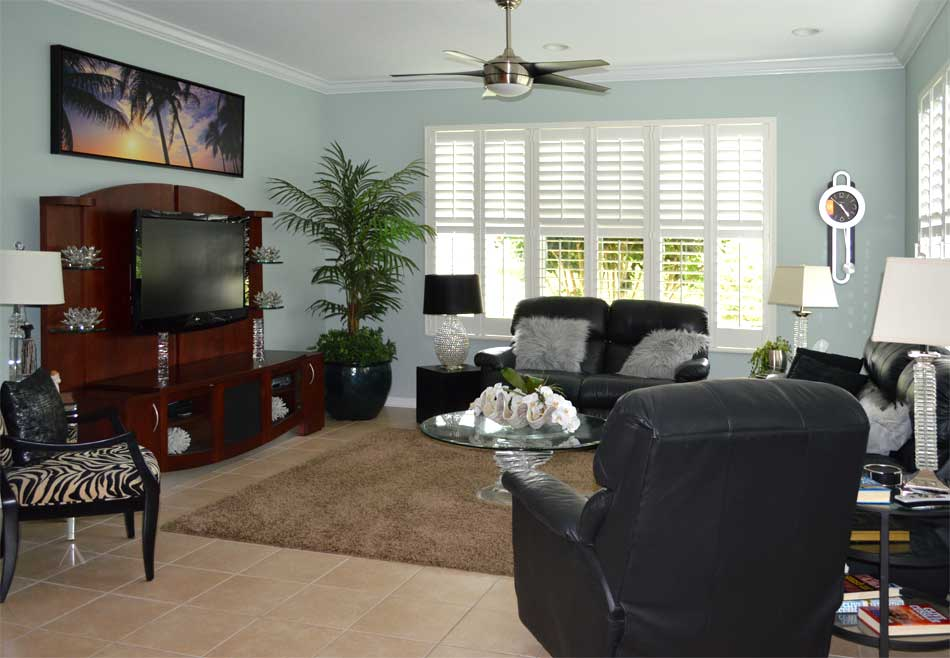 Before, needed a pop of color - Interior Design - in the Villages of Florida.