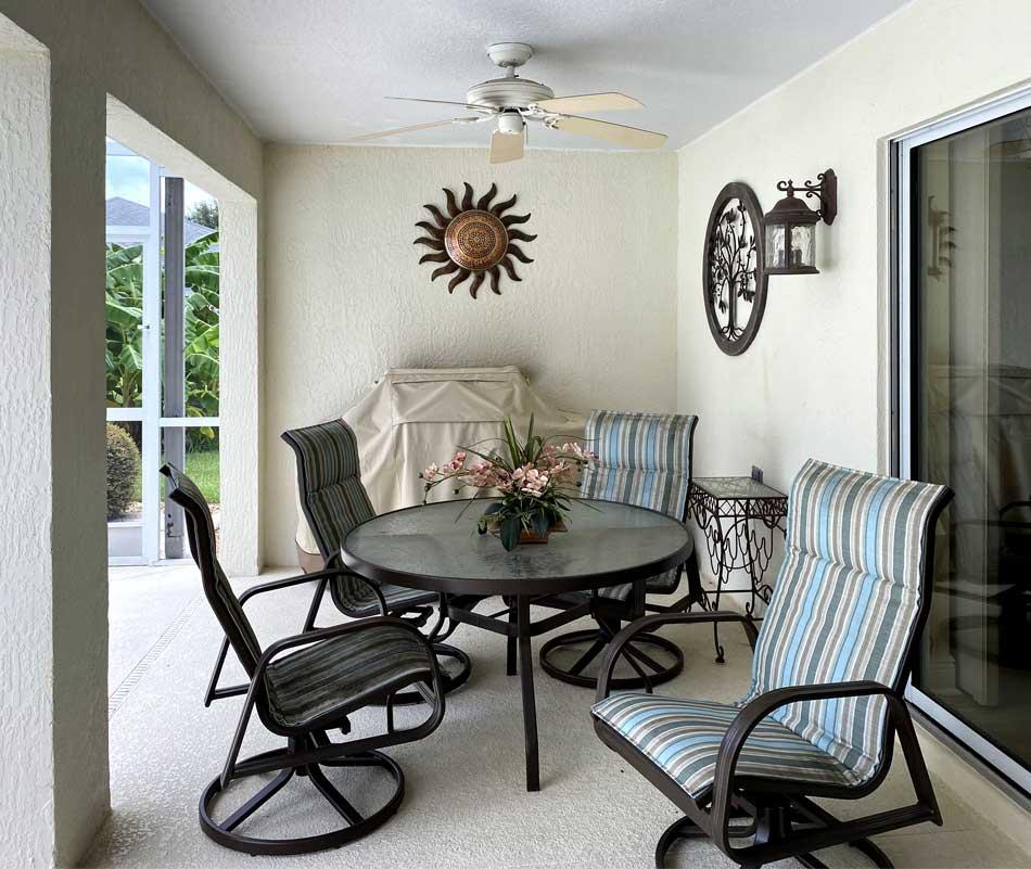 Before of Gardenia Lanai - Interior Design - in the Villages of Florida.