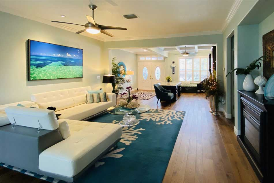 After from the opposite direction to get all of the room. Including the office - Interior Design - in the Villages of Florida.
