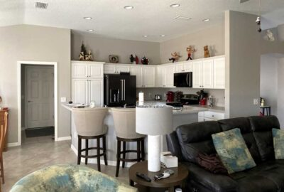 Before, Monticello Villa kitchen and dining room - Interior Design - in the Villages of Florida.