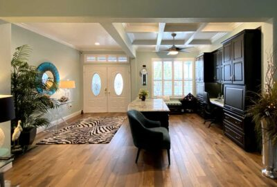 Picture of the office and foyer - Interior Design - in the Villages of Florida.