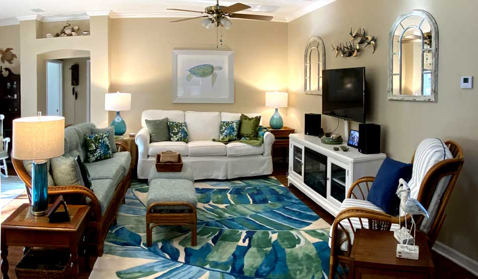 After, Fresh and tropical island chic - Interior Design - in the Villages of Florida.