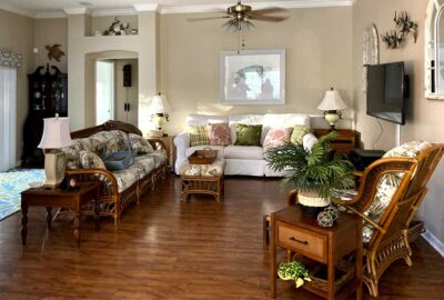 Before of the living room - Interior Design - in the Villages of Florida.
