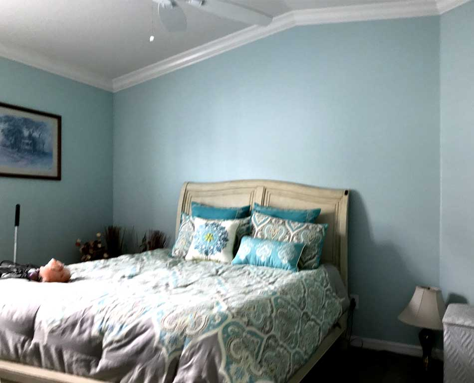 Before, the queen from the master in place and ready to decorate - Interior Design - in the Villages of Florida.