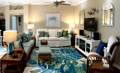 Fresh and looking tropical island chic - Home Décor by Ruth Dyer - in the Villages of Florida.