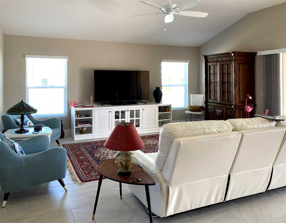 Before of the Begonia living room - Interior Design - in the Villages of Florida.
