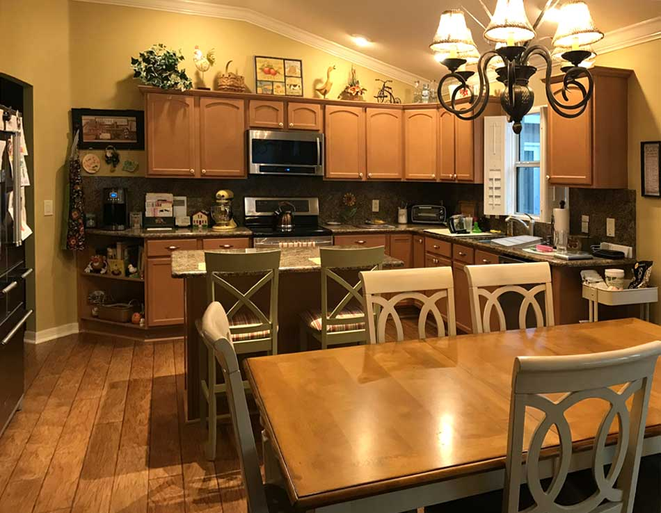 Before of the Stoney brook model Kitchen- Interior Design - in the Villages of Florida.