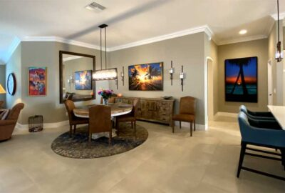Dining room of the Expanded Gardenia - Interior Design - in the Villages of Florida.