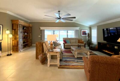 Living room of the Expanded Gardenia - Interior Design - in the Villages of Florida.