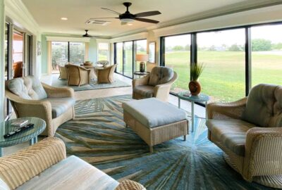 The lanai is comfortable and usable all year long - Interior Design - in the Villages of Florida.