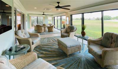 The lanai is comfortable and usable all year - Interior Design - in the Villages of Florida.