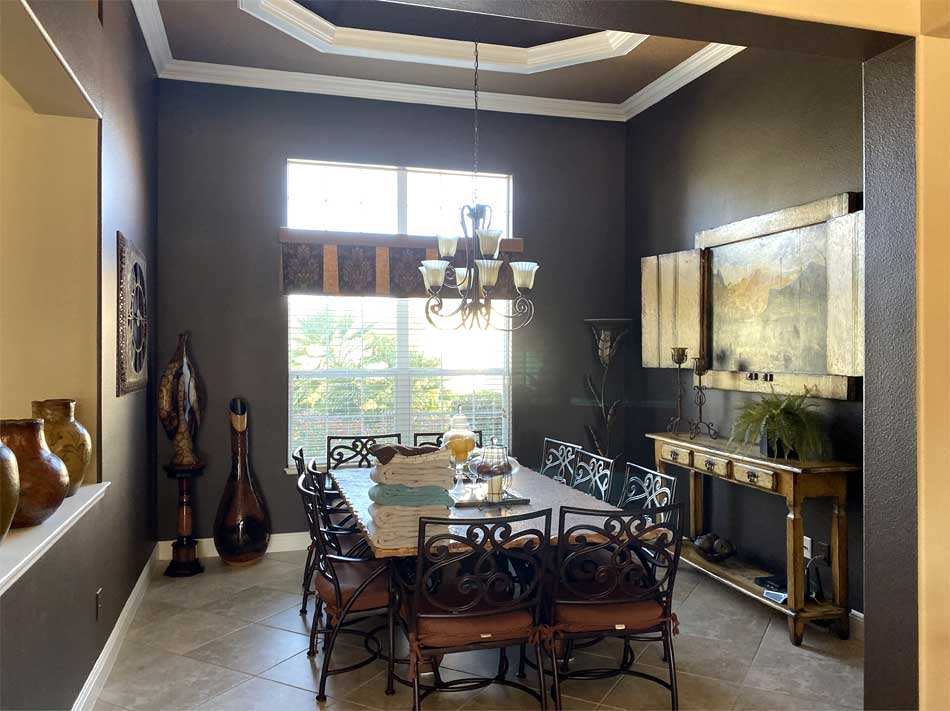 Before picture, very dark - Interior Design - in the Villages of Florida.