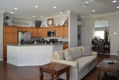 After of the Arlington model looking at the kitchen - Interior Design - in the Villages of Florida.